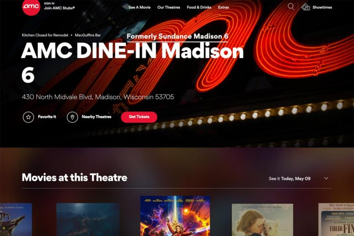 "Sundance is now ""AMC DINE-IN Madison 6"" so here are some alternative names to use"