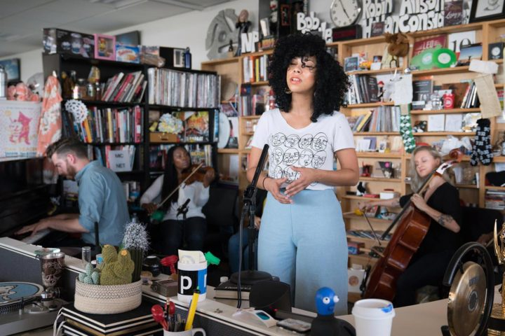 Violents and Monica Martin visit NPR's Tiny Desk