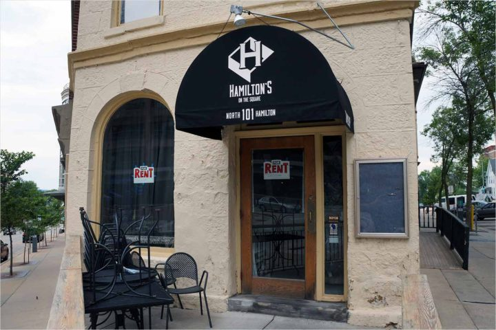 Hamilton's on the Square has closed