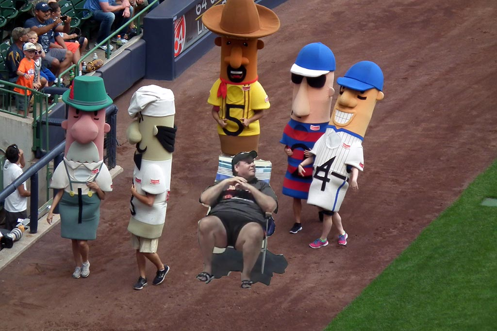 Artist rendering of Chris Christie at Sausage Race.