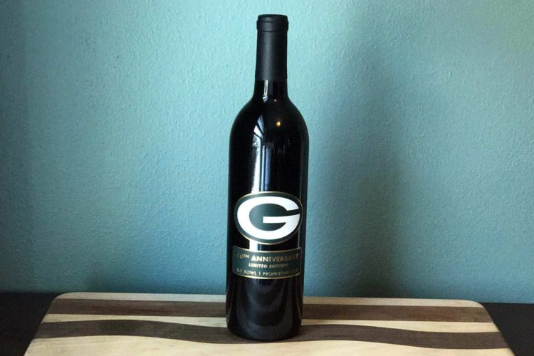 There's a commemorative Ice Bowl wine, so we paired it with game day food