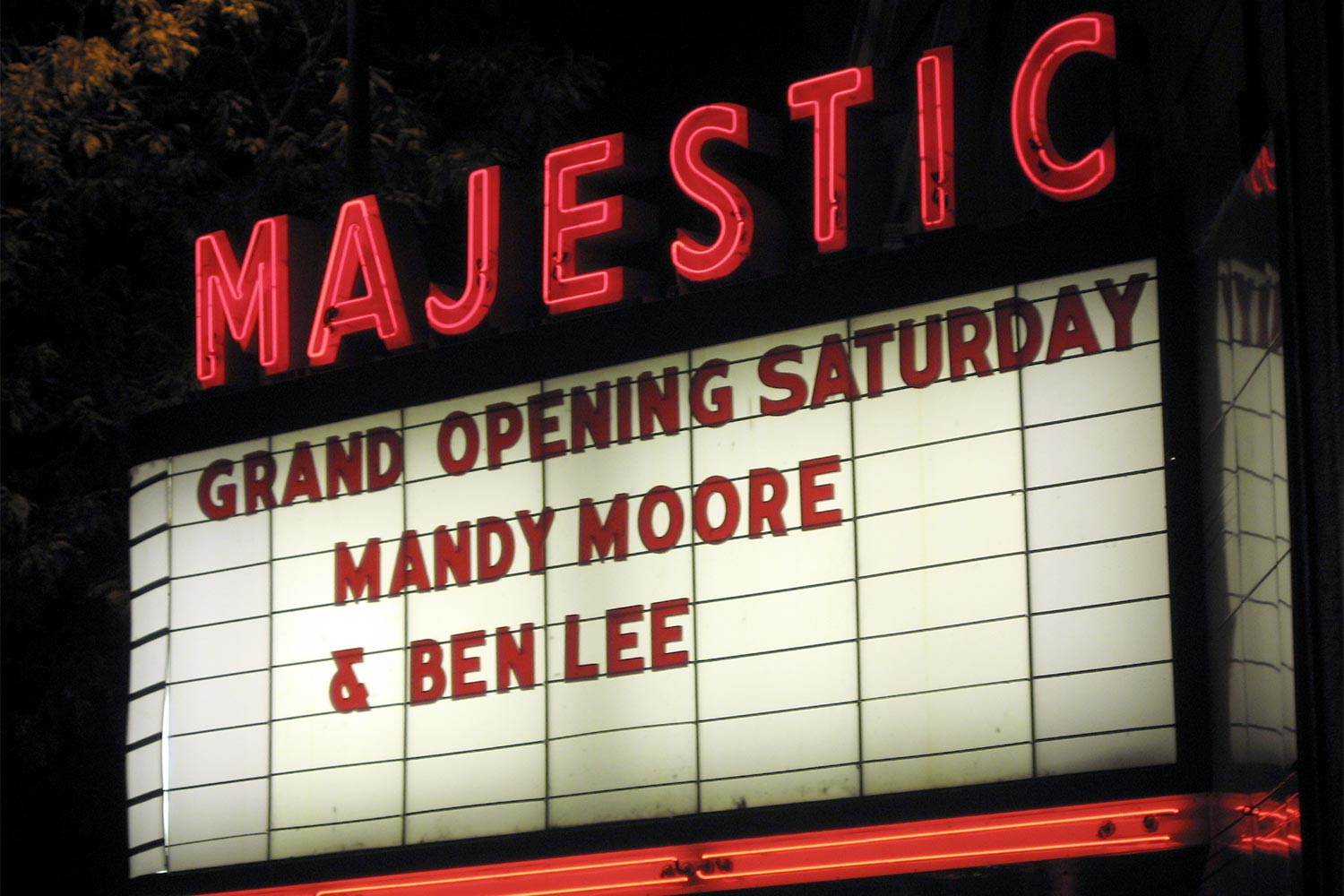 Majestic Theatre marquee opening night