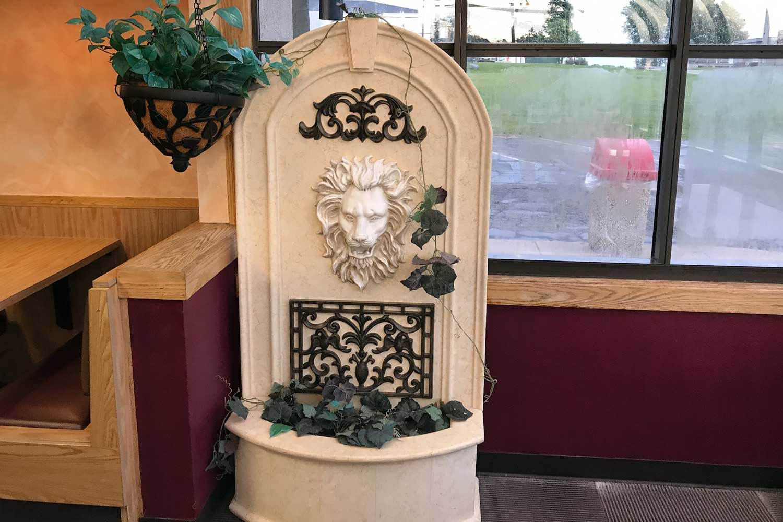 Sliced Deli stone lion statue