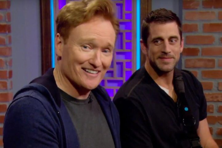 "Aaron Rodgers to Conan O'Brien: ""13 screws later, here I am"""