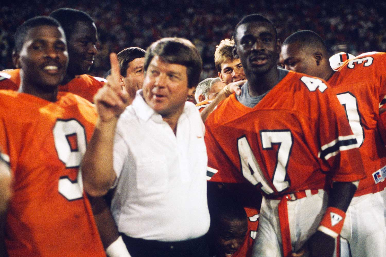 Jimmy Johnson and Michael Irvin