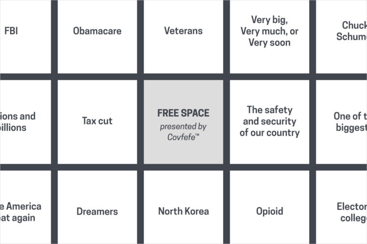 """Please play """"State of the Union Bingo"""" with us"""