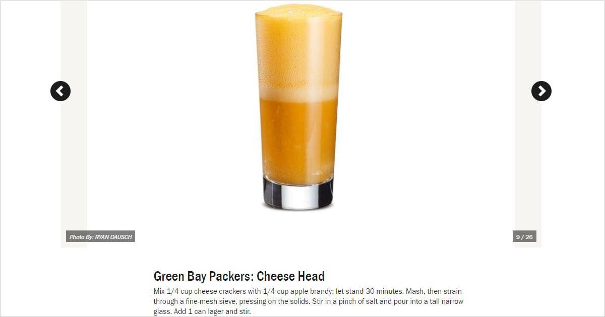 """Cheese Head"" cocktail"
