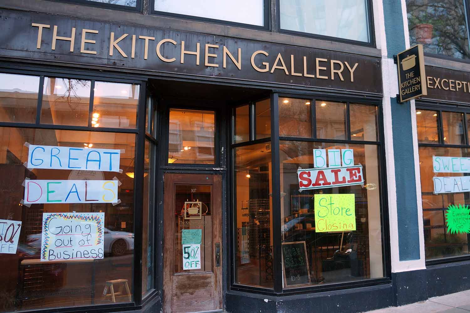 The Kitchen Gallery is closing.