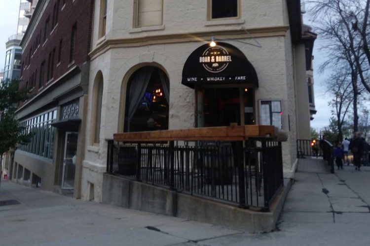 Boar & Barrel's happy hour is best for small parties, close conversations