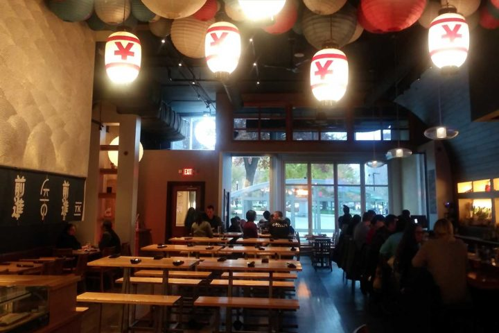 Sake shots and fried chicken stand out at Tavernakaya's happy hour
