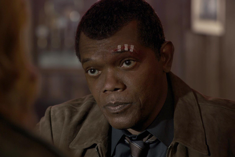 A de-aged Samuel L. Jackson as Nick Fury