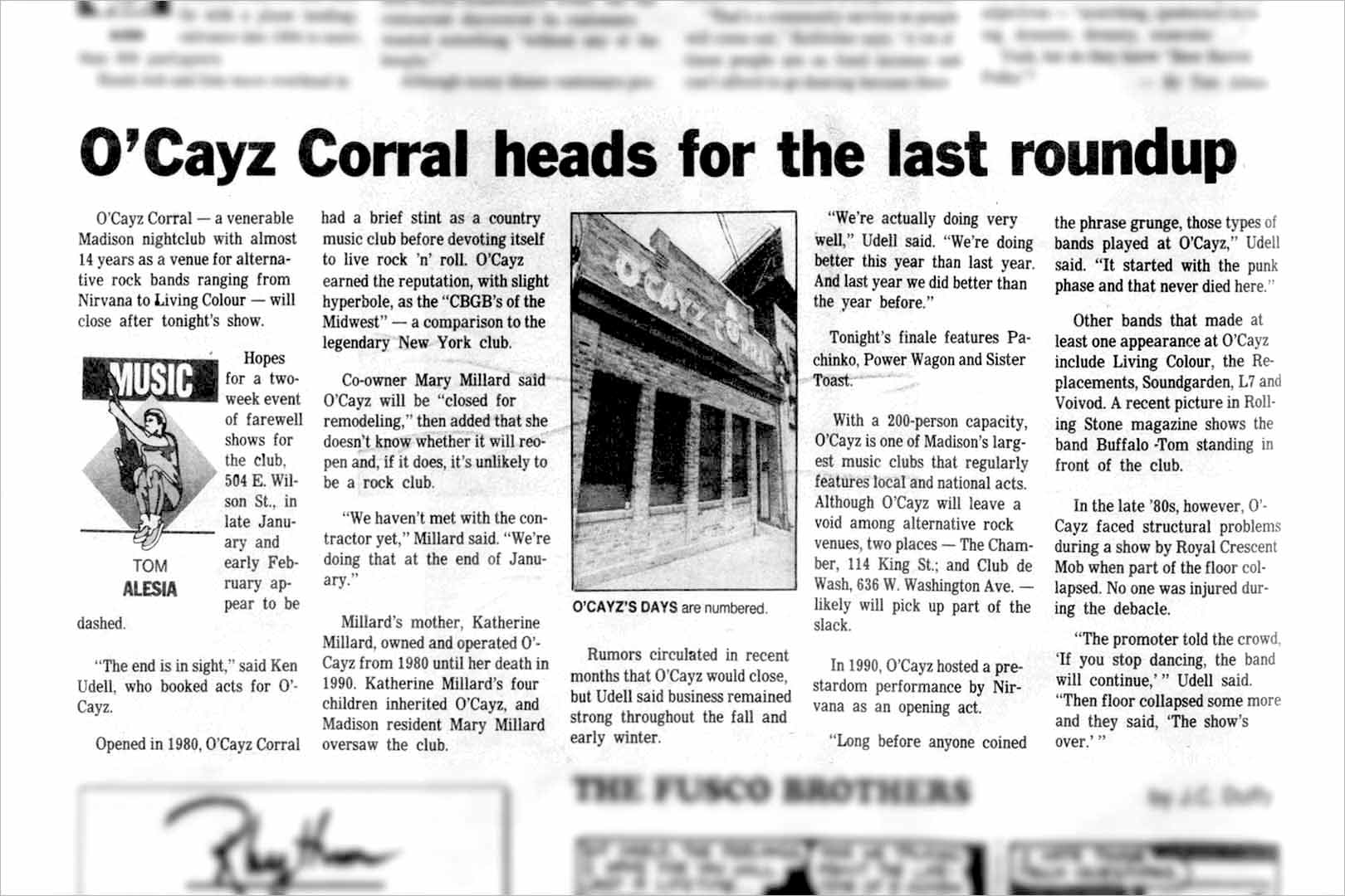 O'Cayz Corral heads for the last roundup