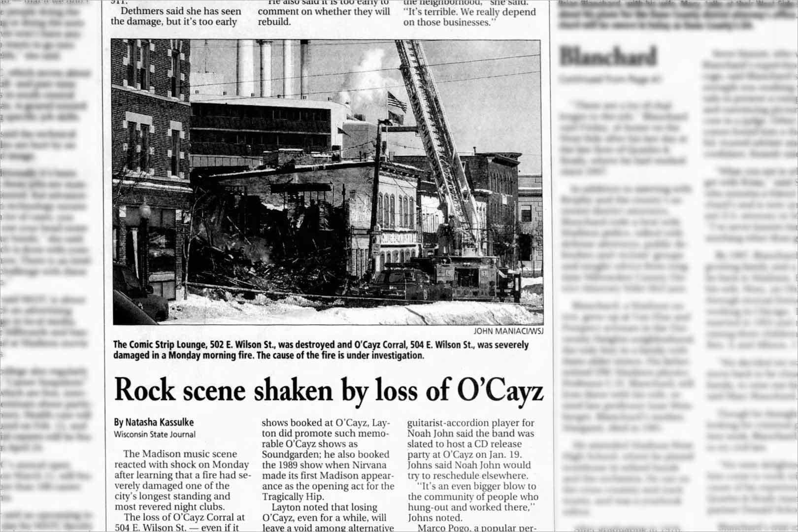 Rock scene shaken by loss of O'Cayz