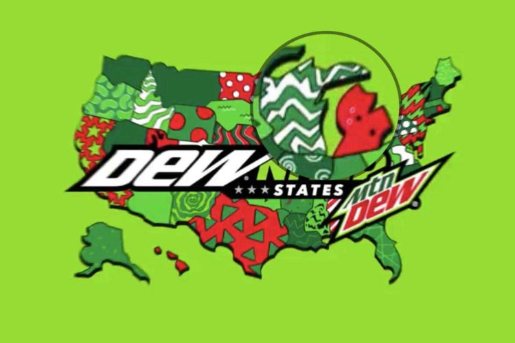 No, Mountain Dew, the Upper Peninsula is not in Wisconsin