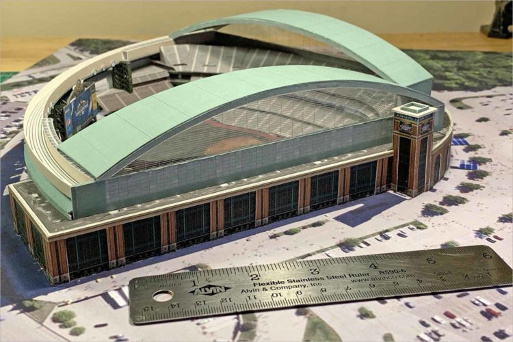 This one of a kind mini Miller Park could be yours, for a good cause
