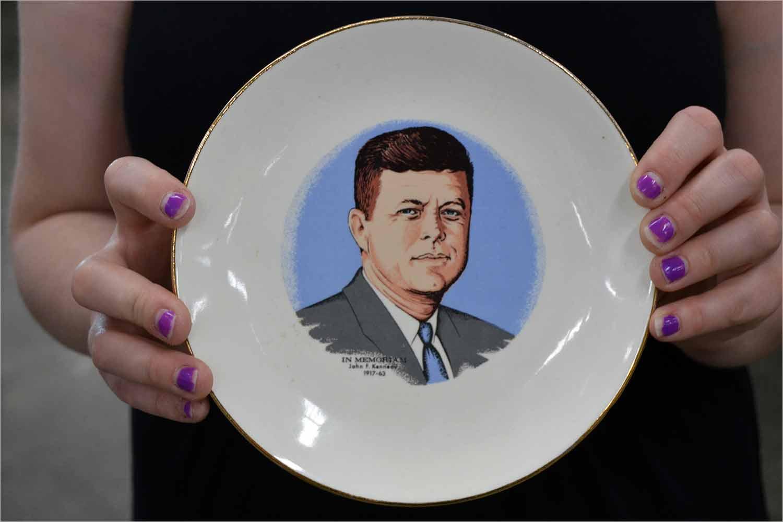 JFK decorative plate