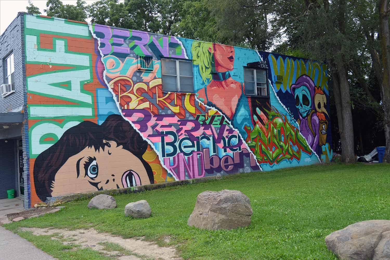 Monona Drive street art