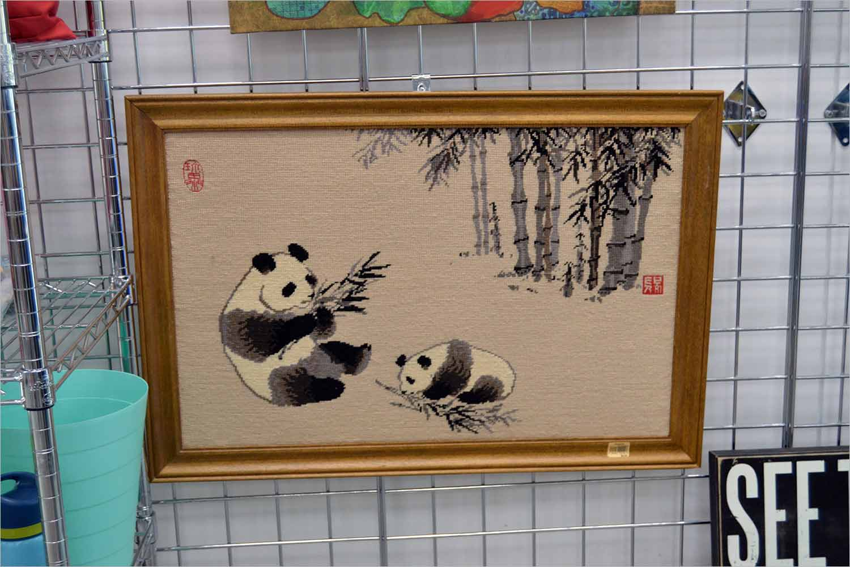Stitched panda art