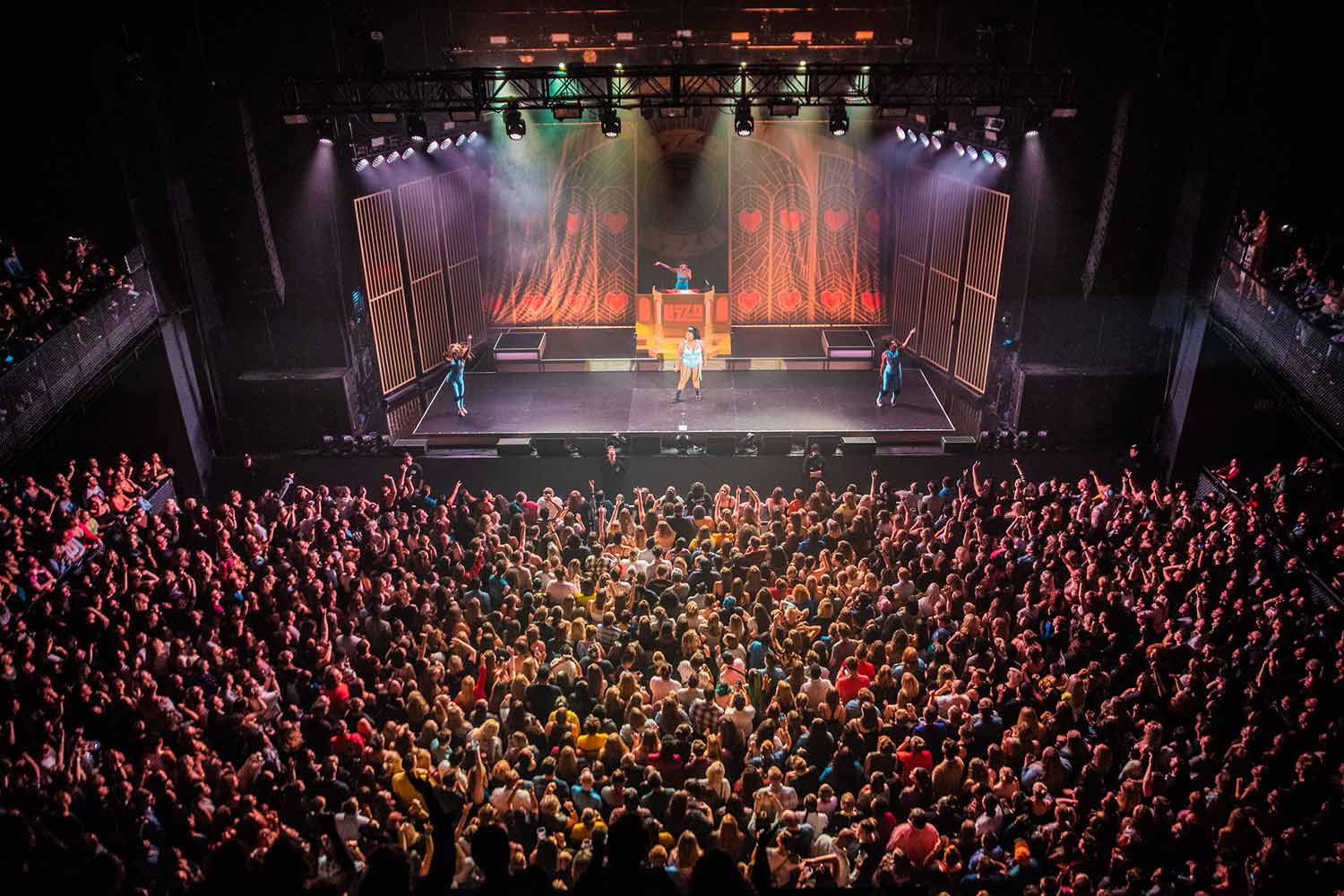 The crowd at The Sylvee during Lizzo's performance on October 10, 2019.
