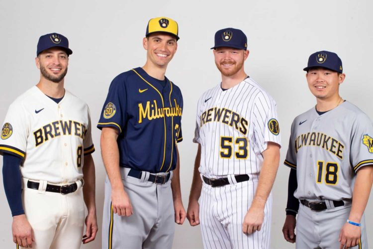 The Brewers unveil new uniforms, revised ball-in-glove logo for 2020