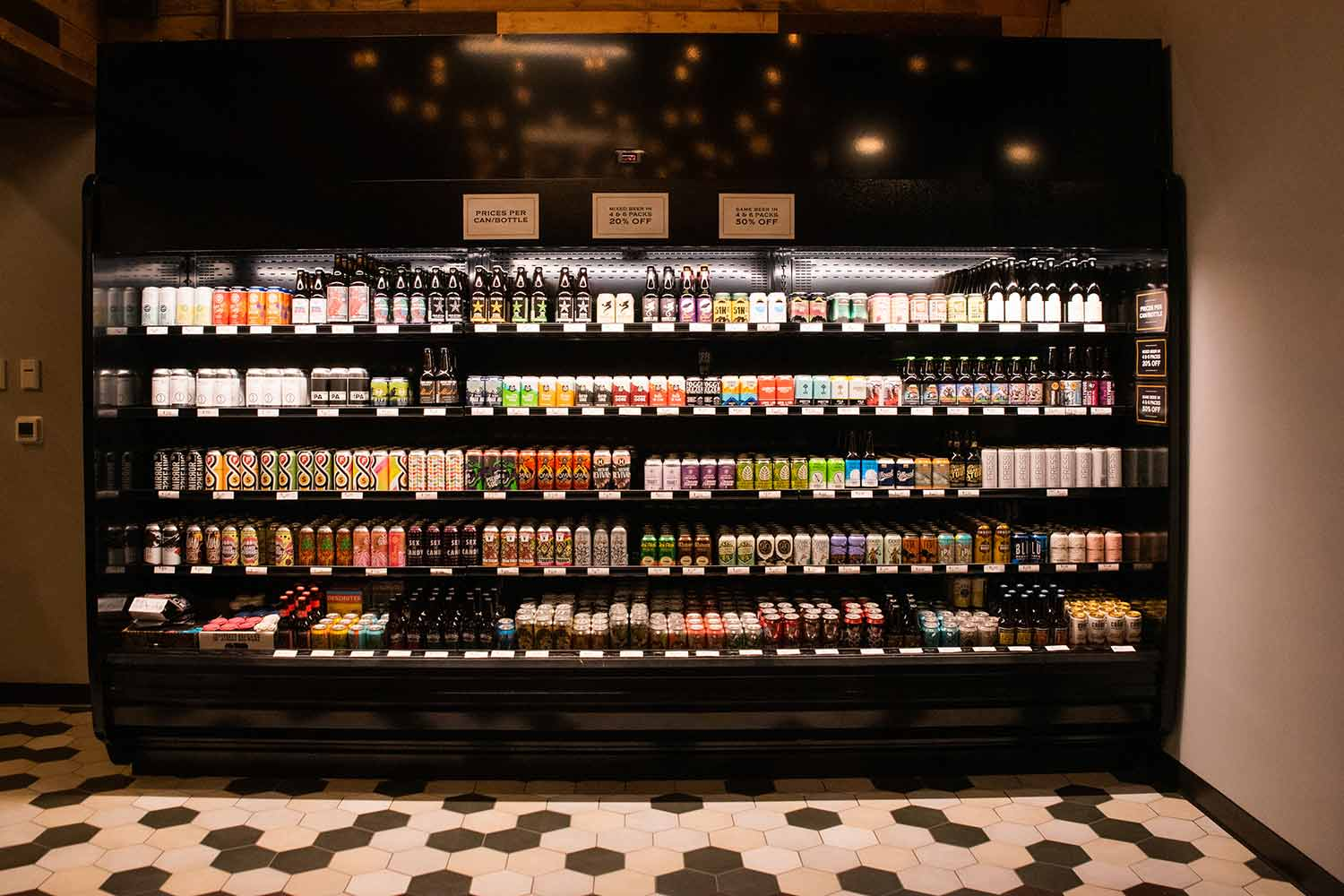 Bottle and can selection