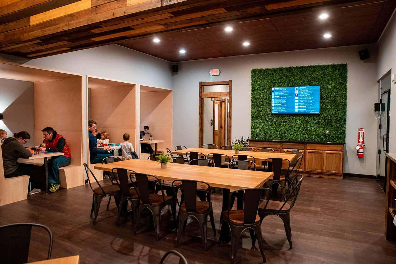 The back room at Garth's Brew Bar