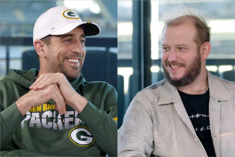 Watch Aaron Rodgers and Justin Vernon interview each other