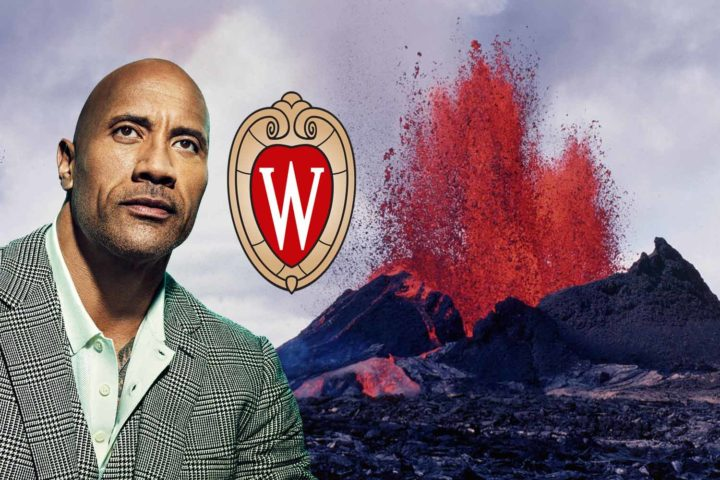 Dwayne Johnson talks rocks with Wisconsin geoscience students