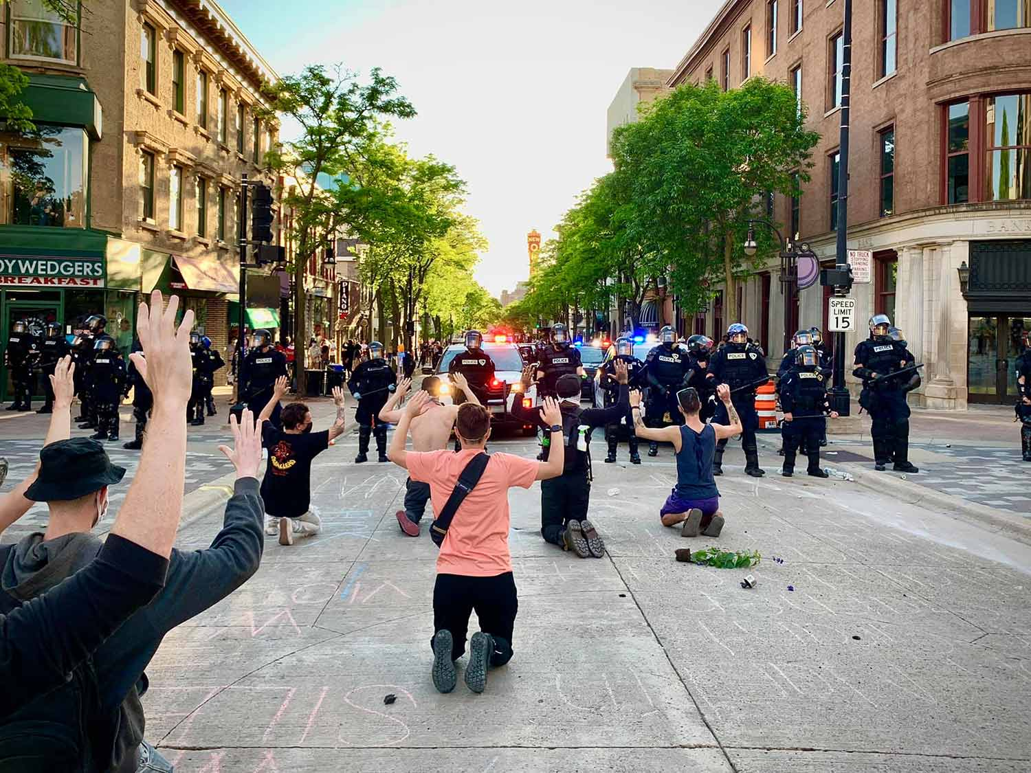 Police protests in Madison, May 30, 2020