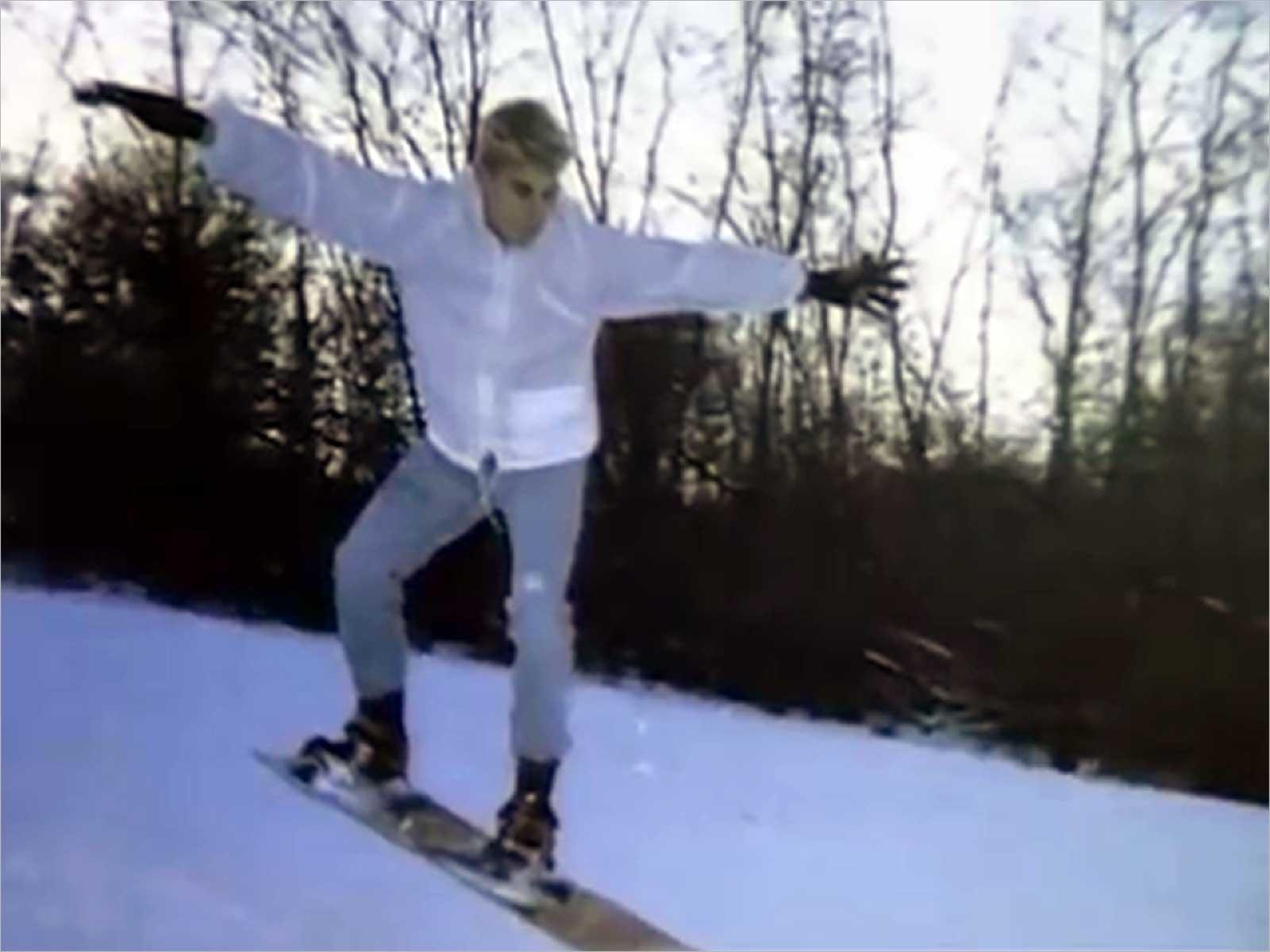 Chad Maurer snowboarding