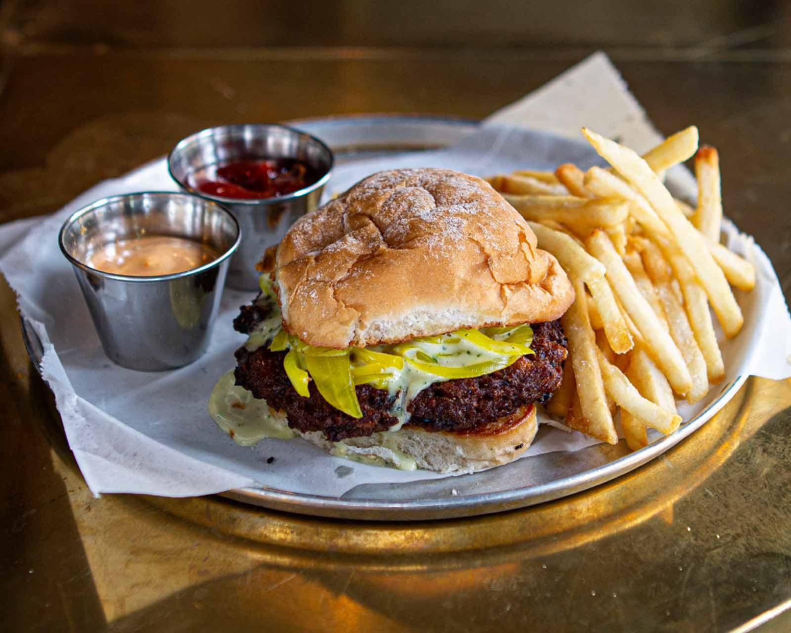 Prit' Near veggie burger