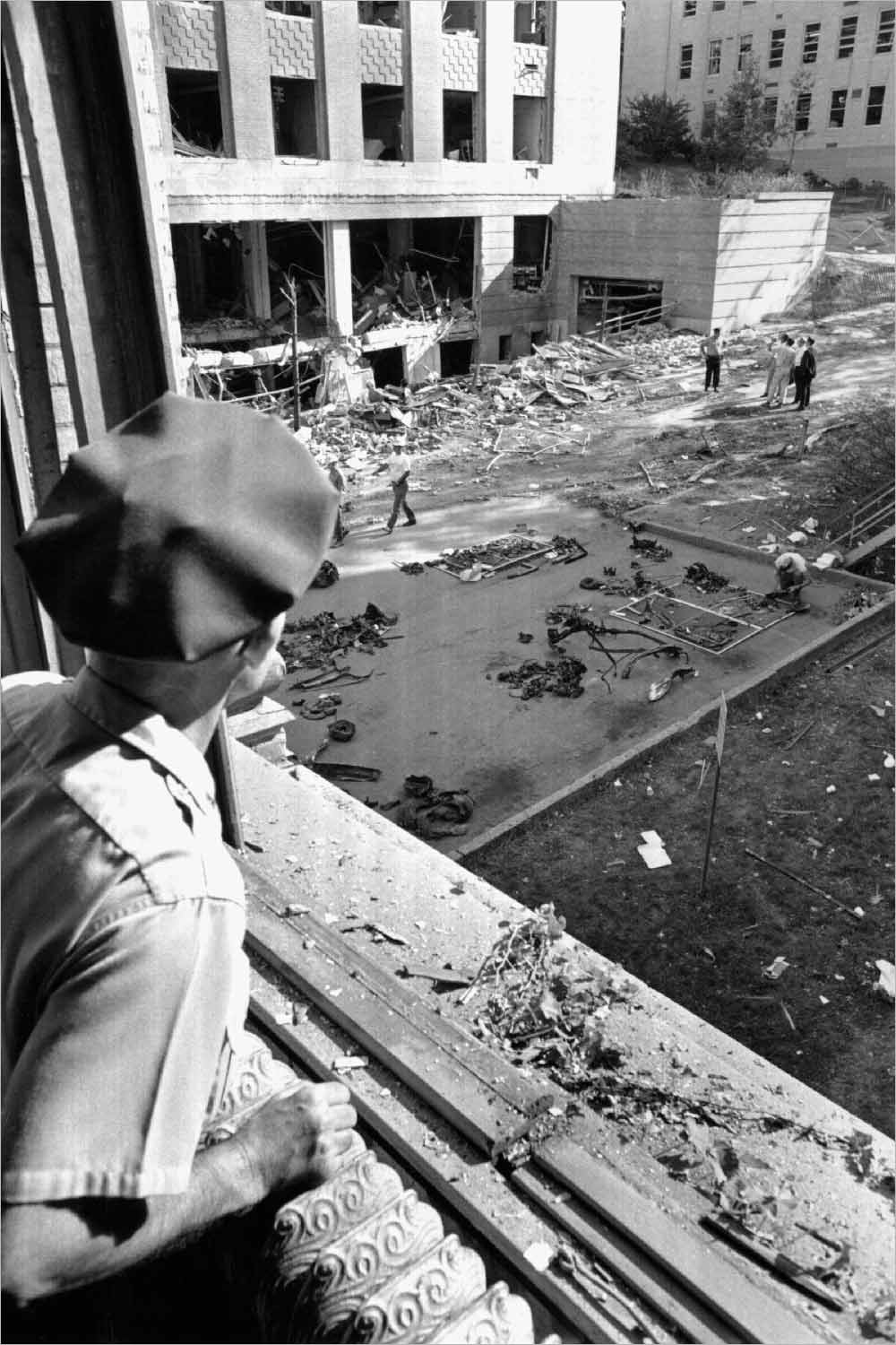 Sterling Hall bombing aftermath