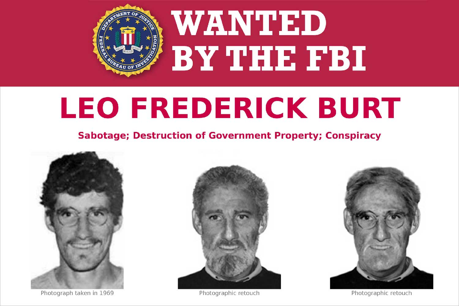 Leo Burt: Wanted by the FBI