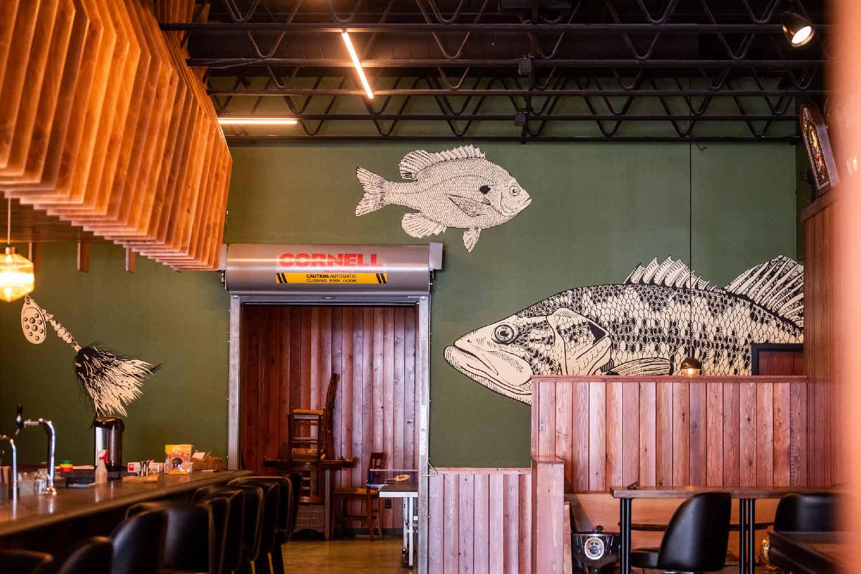 Muskie mural wall